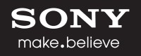 Sony make.believe logo - white